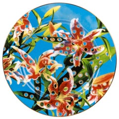 "Seletti ""Toiletpaper-New"" Porcelain Dinner Plate, Flowers"