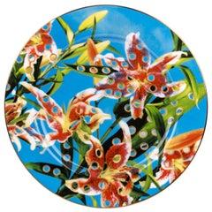 """Seletti """"Toiletpaper-New"""" Porcelain Dinner Plate, Flowers"""