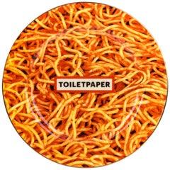 """Seletti """"Toiletpaper-New"""" Porcelain Dinner Plate 'Spaghetti'"""