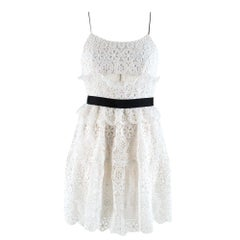 Self-Portrait Floral Lace Cut-Out Dress SIZE 8