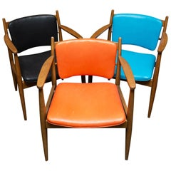 Selig-Style Leather Armchairs from W J Sloane