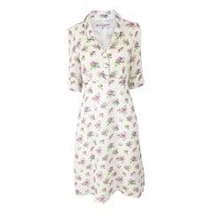 Selina Blow Vintage Short Sleeve 1940s Inspired Floral Tea Dress