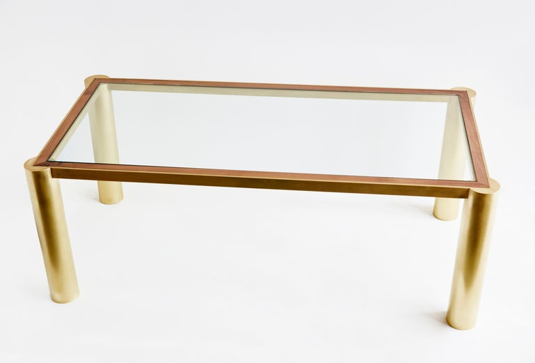 Seline Table in Walnut and Brass by Cam Crockford In New Condition For Sale In Brooklyn, NY