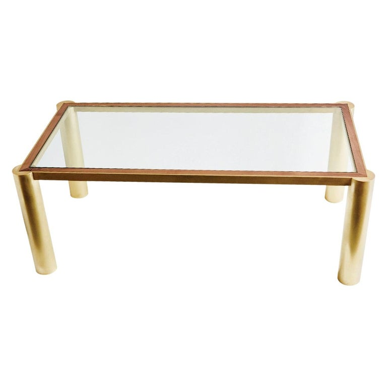 Seline Table in Walnut and Brass by Cam Crockford For Sale