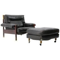 'Sella' armchair with ottoman by Carlo de Carli for Sormani, 1960s
