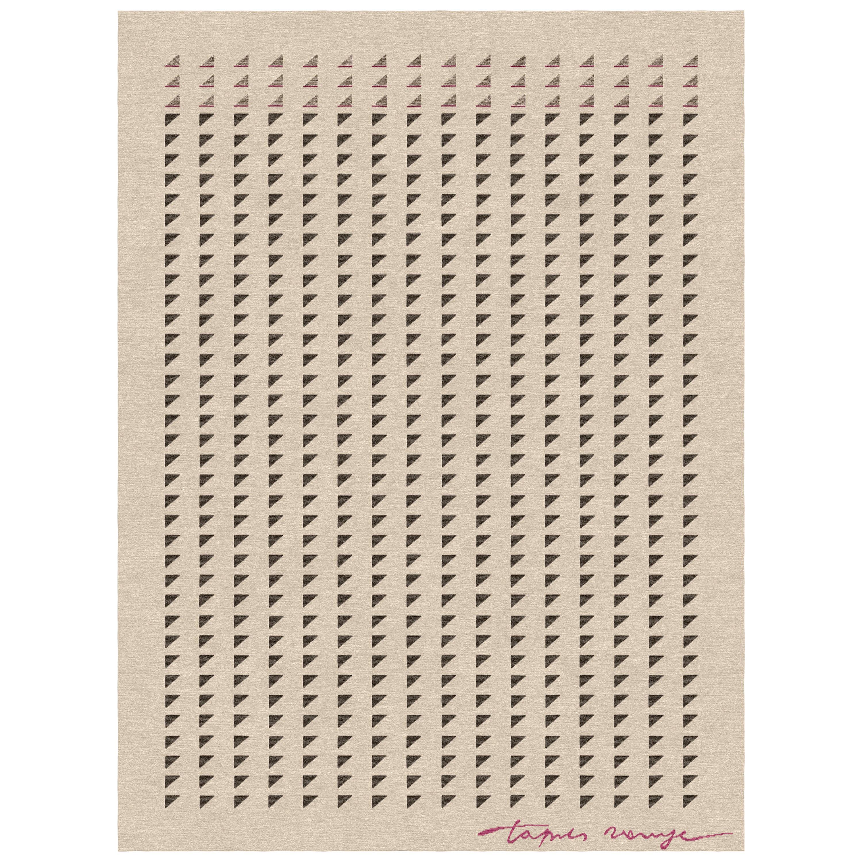 Sellero Tortora - Beige Geometric Hand Knotted Wool Bamboo Silk Rug