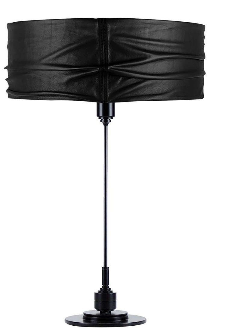 Italian Semele Black Table Lamp #1 by Acanthus For Sale
