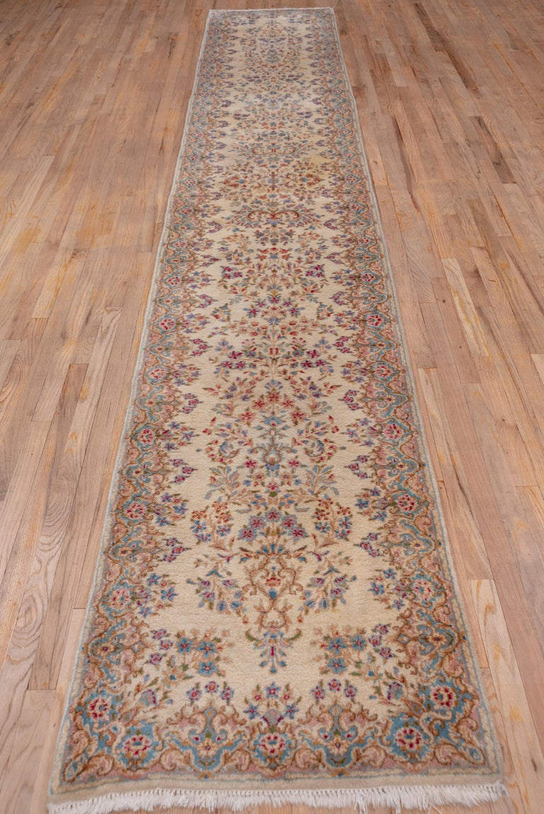 Persian Semi Antique Kerman Runner For Sale