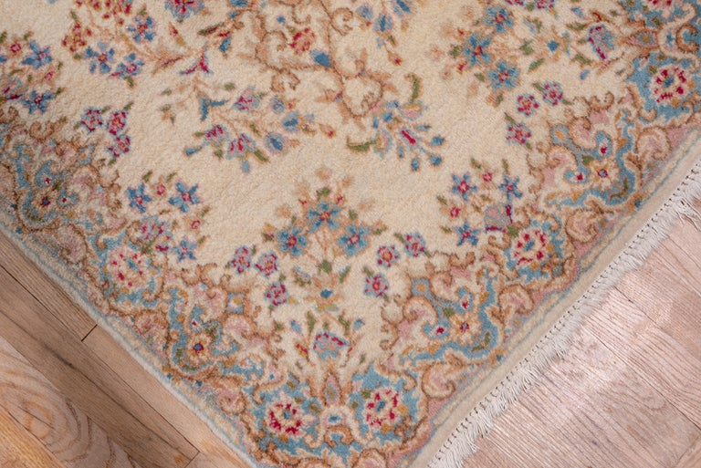Hand-Knotted Semi Antique Kerman Runner For Sale