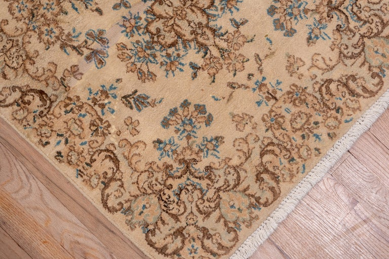 Hand-Knotted Semi Antique Long and Narrow Kerman Runner For Sale
