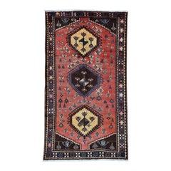 Semi Antique Persian Afshar Full Pile Mint Condition Runner