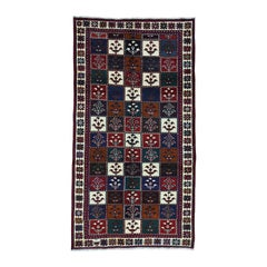 Semi Antique Persian Bakhtiari Wide Runner Hand-Knotted Rug