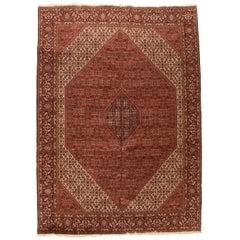 Semi Antique Persian Bidjar Rug