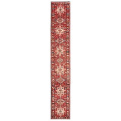 Semi-Antique Persian Karadjeh Narrow Runner in Jewel Colors