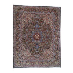 Semi Antique Persian Kerman Full Pile Good Condition Clean Hand Knotted Fine Rug
