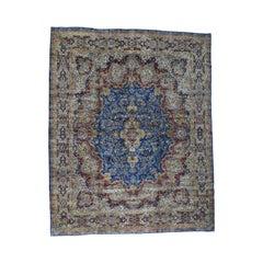 Semi-Antique Persian Kerman Full Pile Mint Cond Handmade Rug
