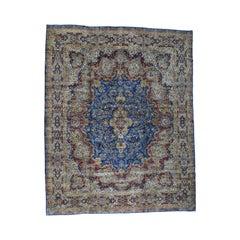 Semi-Antique Persian Kerman Full Pile Mint Condition Handmade Rug