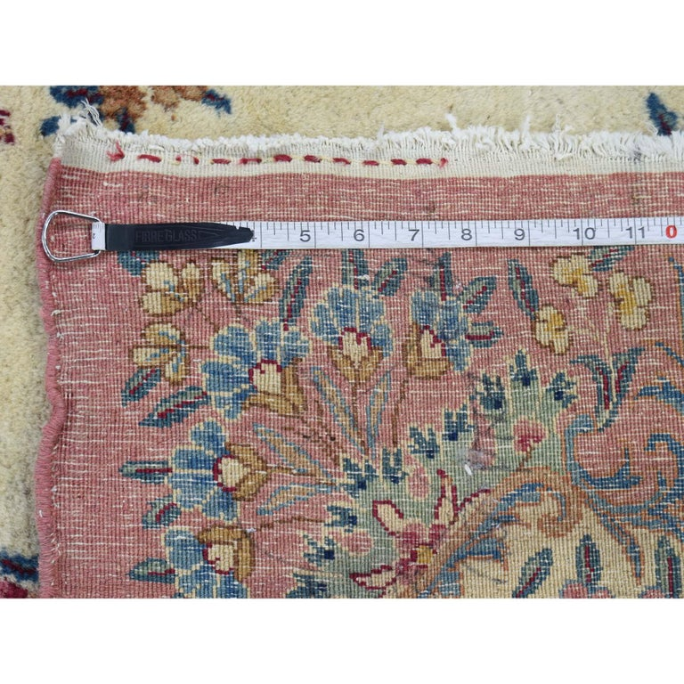 Semi Antique Persian Kerman Full Pile Soft Oversize Rug For Sale 4