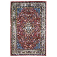 "Semi Antique Persian Mahal Full Pile Hand Knotted Oriental Rug, 6'8"" x 10'0"""