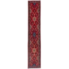 Semi Antique Red Sarouk Runner