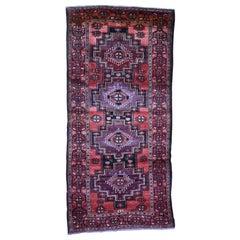 Semi Antique Turkoman Village Pure Wool Wide Runner Hand Knotted Oriental Rug