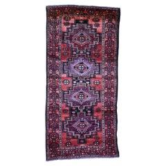 Semi Antique Turkoman Village Pure Wool Wide Runner Hand-Knotted Oriental Rug