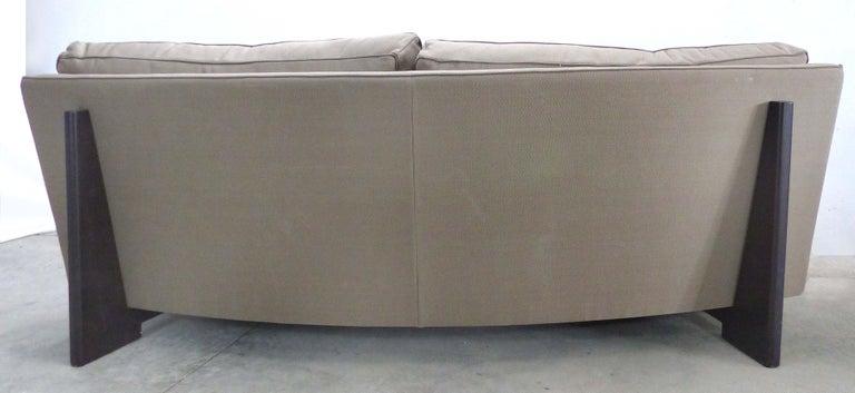 Wood  Umberto Asnago Mobilidea Semi-circular Sectional Sofa, Italy For Sale
