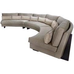Umberto Asnago Mobilidea Semi-circular Sectional Sofa, Italy