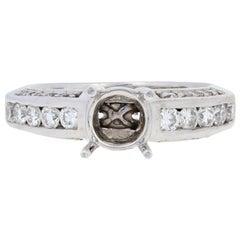 Semi-Mount Engagement Ring, 14 Karat Gold for Center Diamond Accents .75 Carat