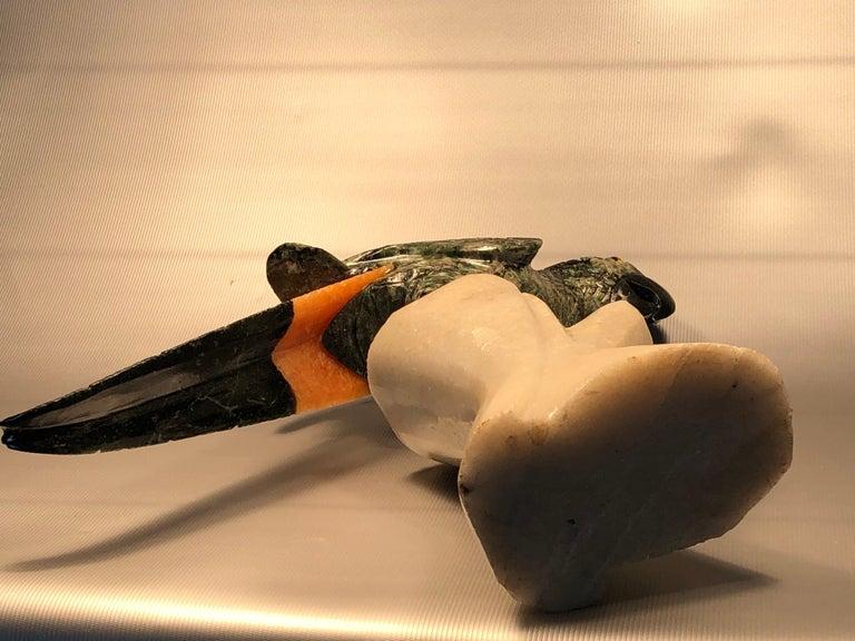 Semi Precious Gemstone Figurine Decorative Small Parrot Bird SALE  In Good Condition For Sale In London, GB