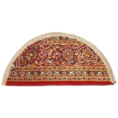 Semicircle Oriental Rug for Interior Door Way, Handmade Carpet Entrance Mat