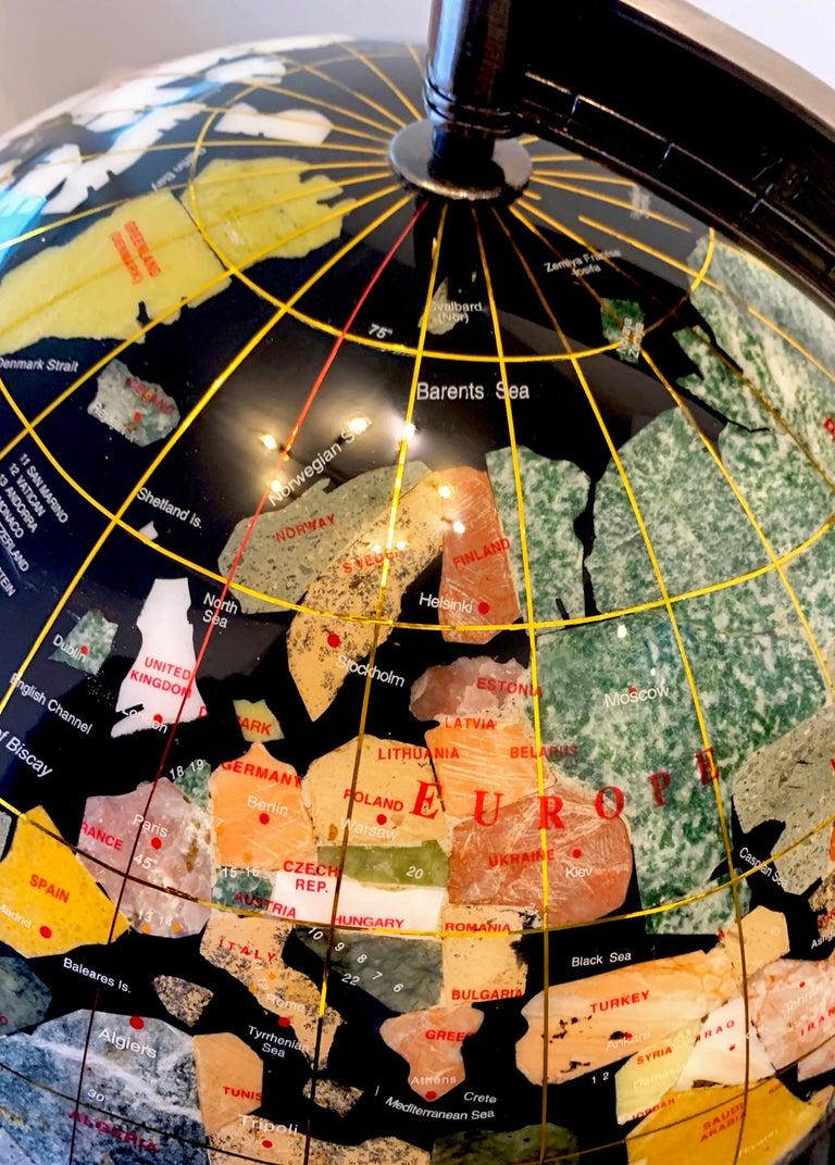 Semiprecious Stone Globe 20th Century Black For Sale 2