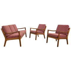 Senator Living Room Set with Sofa and Chairs by Ole Wanscher for France and Son