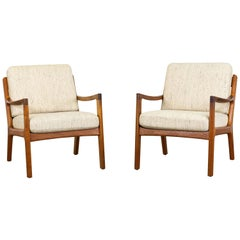 Senator Lounge Chairs by Ole Wanscher for France & Søn, 1950s, Set of 2