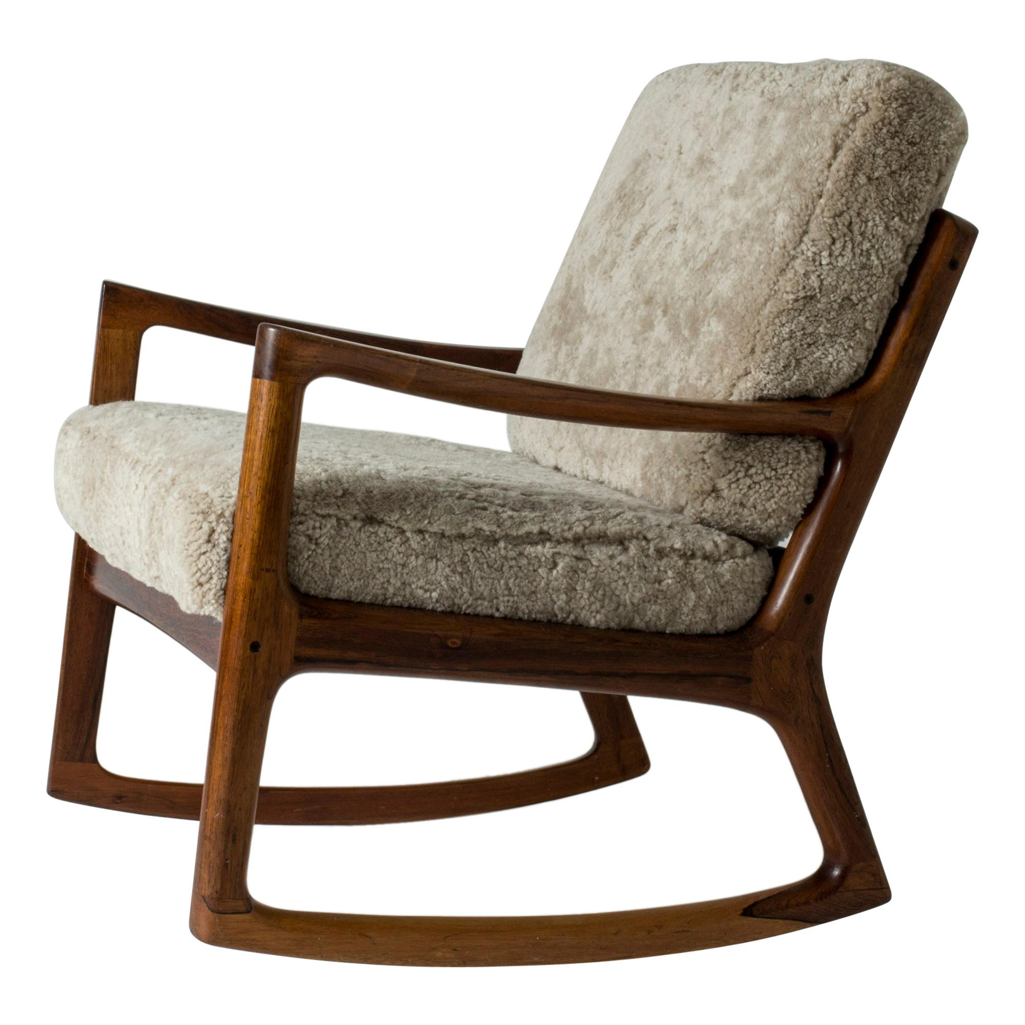"""Senator"" Rocking Chair by Ole Wanscher for France & Son, Denmark, 1960s"