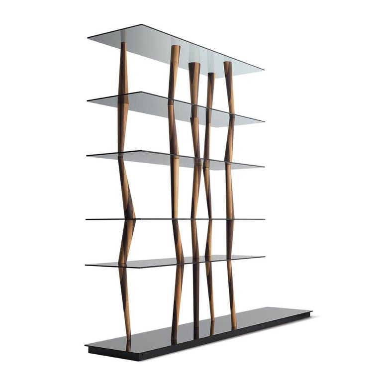 Named after the Japanese city of Sendai and exquisitely designed by renowned artist Toyo Ito, this striking bookcase features a dynamic and captivating silhouette boasting a strong emotional power. Superbly crafted, this sculptural piece comprises