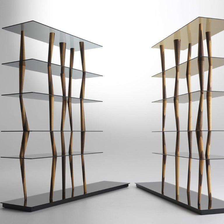 Italian Sendai Glass Bookcase by Toyo Ito For Sale
