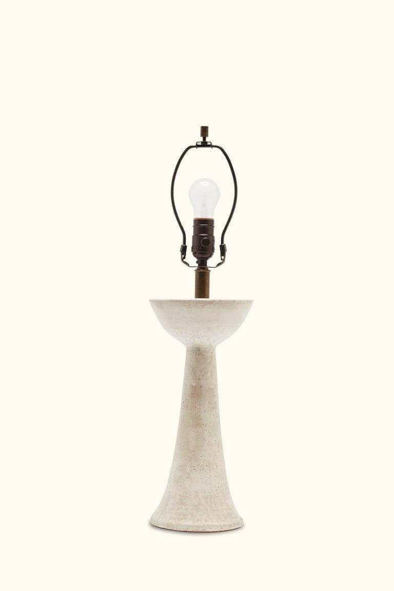 Seneca table lamp by ceramic artist Danny Kaplan.