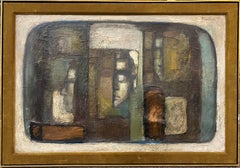 Mixed Media Cubist Abstract with Faces
