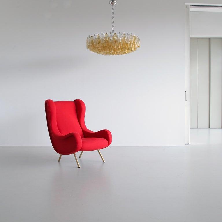 Metal Senior Armchair by Marco ZANUSO, Arflex, Italy