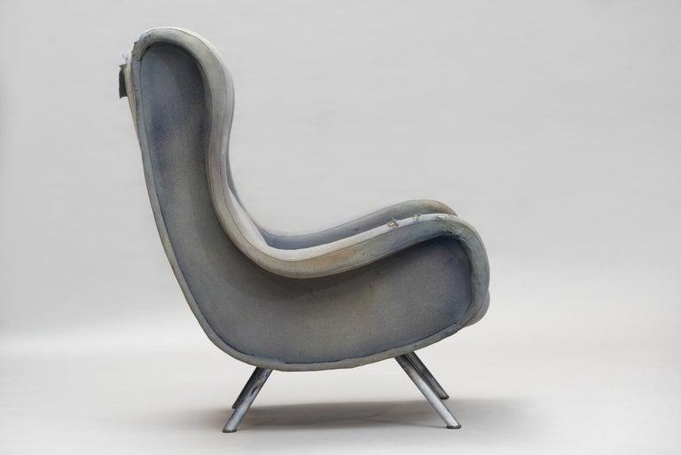 Mid-Century Modern Senior Armchair by Marco Zanuso for Arflex Early Edition For Sale