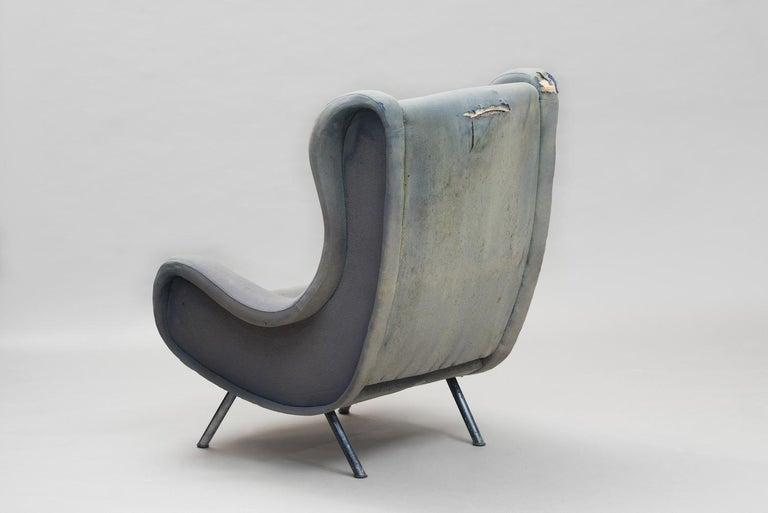 Italian Senior Armchair by Marco Zanuso for Arflex Early Edition For Sale