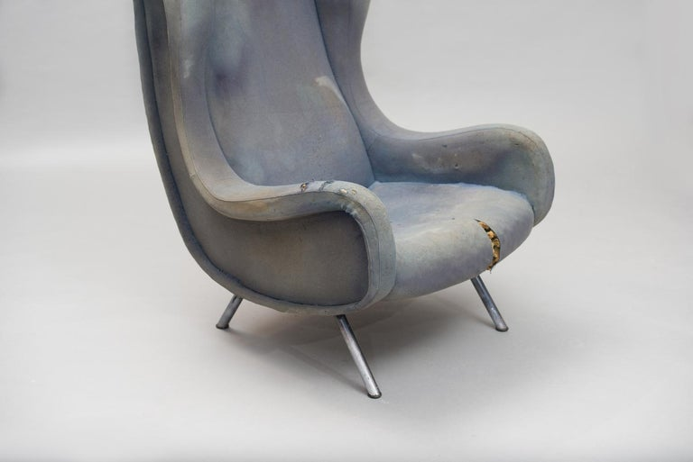 Anodized Senior Armchair by Marco Zanuso for Arflex Early Edition For Sale