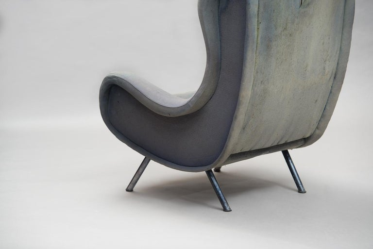 Senior Armchair by Marco Zanuso for Arflex Early Edition In Distressed Condition For Sale In Porto, PT