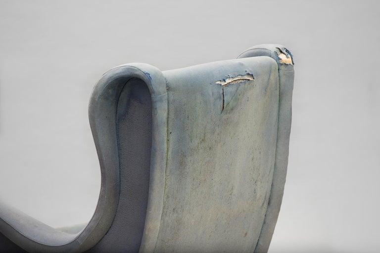 Fabric Senior Armchair by Marco Zanuso for Arflex Early Edition For Sale