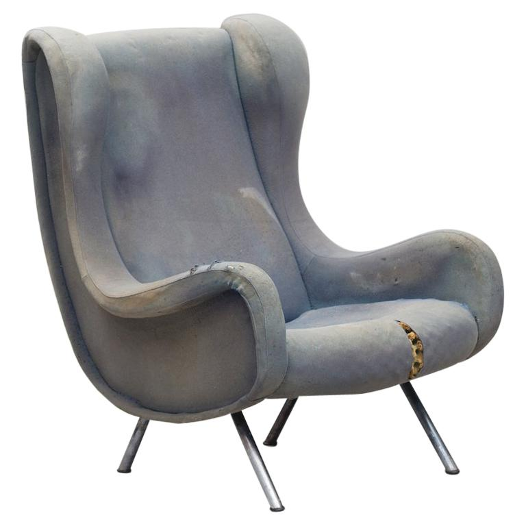 Senior Armchair by Marco Zanuso for Arflex Early Edition For Sale