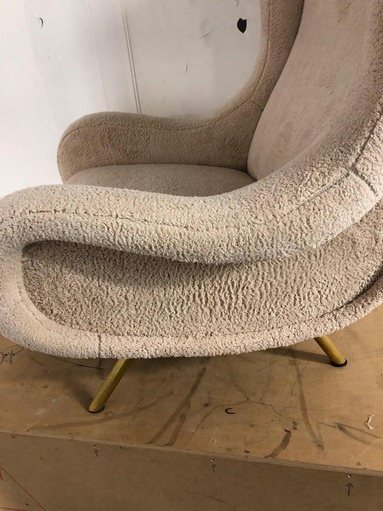 Brass Senior Armchair by Marco Zanuso for Arflex For Sale