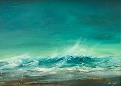 Hold On To Your Hat - Contemporary Seascape Painting by Senja Brendon