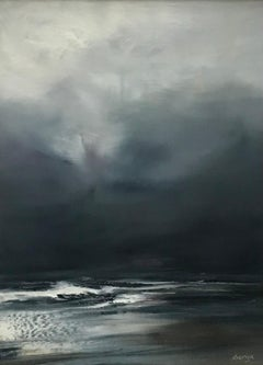 Just Enough Light - Contemporary Seascape Painting by Senja Brendon