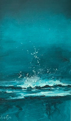 Making A Splash - Contemporary Seascape Painting by Senja Brendon
